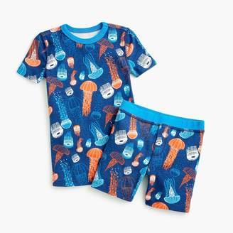 J.Crew Kids' glow-in-the-dark short pajama set in jellyfish