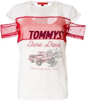 Tommy Hilfiger (トミー ヒルフィガー) - Tommy Hilfiger dare devil mesh T-shirt