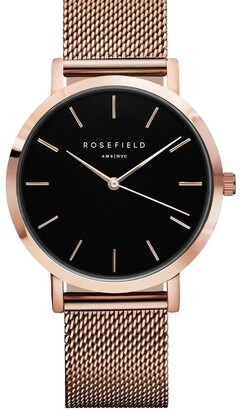 Rosegold MBR-M45 38MM Mercer Black Dial Mesh