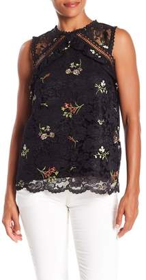 Laundry by Shelli Segal Embroidered Lace Blouse
