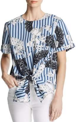 Velvet Heart Gertie Floral Stripe Tie-Hem Top