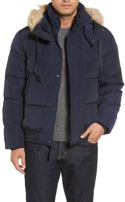 Andrew Marc Insulated Jacket w/ Genuine Coyote Fur Trimmed Hoodie