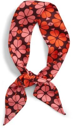 Kate Spade Flower Spade Skinny Silk Scarf