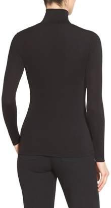 St. John Jersey Long Sleeve T-Neck Shell