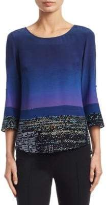 Akris Punto Alice Twilight Silk Blouse