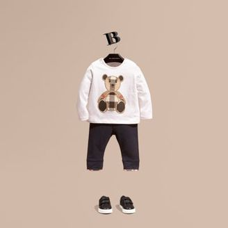 Burberry Long-sleeved Teddy Bear Motif Cotton T-shirt $75 thestylecure.com