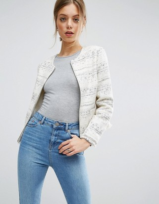 ASOS Boucle Jacket with Fringe Detail $83 thestylecure.com