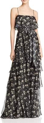 Jill Stuart Tiered Floral Gown