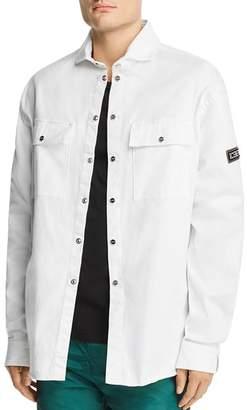 Iceberg Embroidered Denim Shirt Jacket
