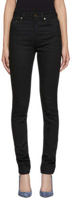 Saint Laurent Black High-Waisted Skinny Jeans