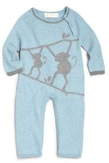 Lucky Jade Baby's Cotton& Cashmere Monkey Coverall