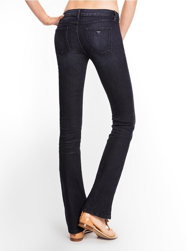 "GUESS Brittney Mid-Rise Petite Bootcut Jeans in CRX Wash, 31 ½"" Inseam"