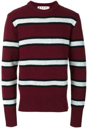 Marni striped crew neck sweater