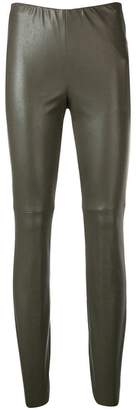 Cambio faux leather skinny trousers