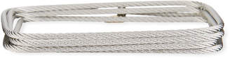 Alor Classique Square Cable Bangle w/ Diamond Charm