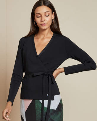 Ted Baker GWORJI Long sleeved knitted wrap top