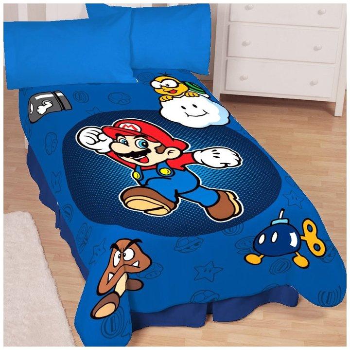 Nintendo Super Mario Who's w/ Me Microraschel Blanket