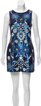 Needle & Thread Sequin Embellished Mini Dress w/ Tags