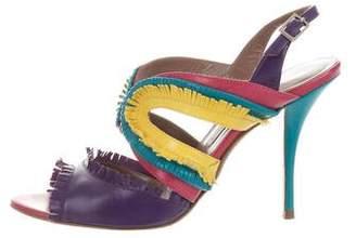Tabitha Simmons Leather Slingback Sandals