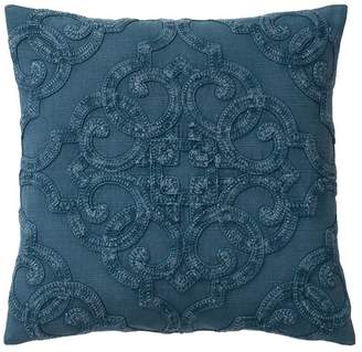 Pottery Barn Drew Embroidered Pillow Cover - Indigo