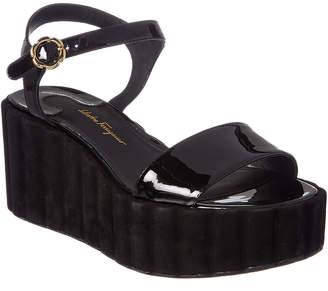 Salvatore Ferragamo Patent Platform Sandal