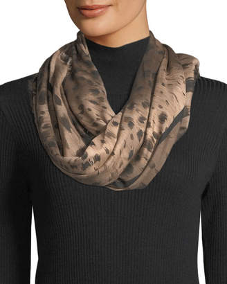 Lafayette 148 New York Agave Leopard Square Scarf
