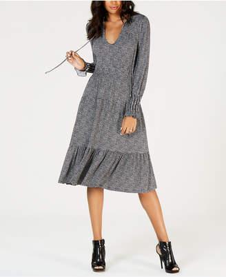 Michael Kors Tweed-Print Dress