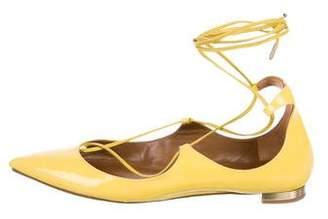 Aquazzura Christy Pointed-Toe Flats