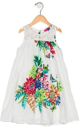 Derhy Kids Girls' Floral Print Sleeveless Dress