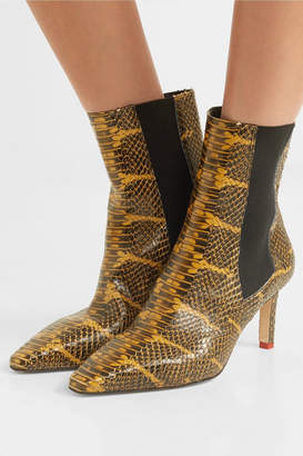 Leila aeydē Snake-effect Leather Ankle Boots - Snake print