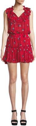MISA Los Angeles Milaya Ruffle Floral Mini Dress