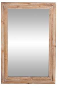 DecMode Decmode Rustic 35 X 22 Inch Brown Wood-Framed Rectangular Wall Mirror