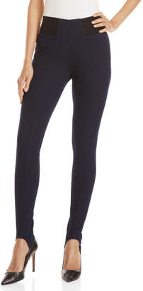 Hue High-Waist Denim Stirrup Leggings