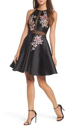 Xscape Evenings Embroidered Mikado Party Dress