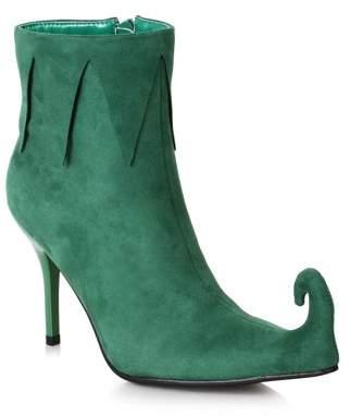 Ellie Women's 3 inch Heel Green Holiday Boot Halloween Costume Accessory
