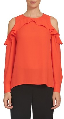 Women's Cece Ruffled Cold Shoulder Blouse $79 thestylecure.com
