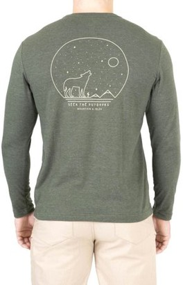 """Mountain And Isles Men's Mountain and Isles """"Get Lost"""" Long Sleeve Graphic Tee"""