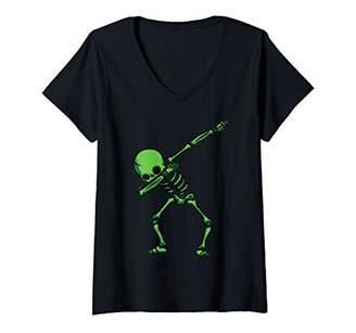 Womens Halloween V-Neck T-Shirt