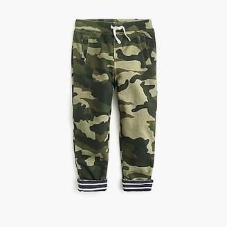 J.Crew Boys' lined sweatpants in camo