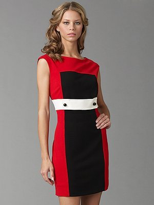 Cynthia Steffe Sloan Colorblock Mini Dress