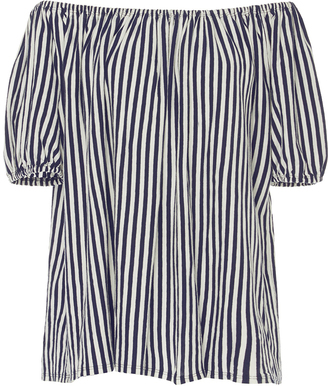 MDS Stripes Knit Abby Top $145 thestylecure.com