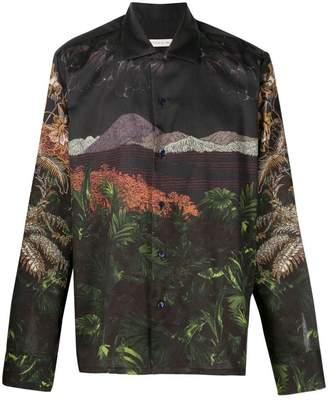 Etro landscape print shirt