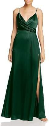 Jill Stuart Crossover Satin Gown