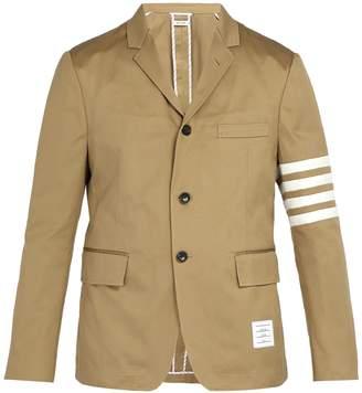 Thom Browne Striped single-breasted cotton blazer