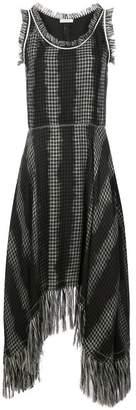 Nina Ricci checked fringe dress