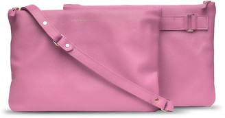Holly & Tanager Companion Max Leather Crossbody Clutch In Pink
