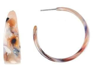 Free Press Lucite 30mm Hoop Earrings