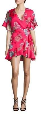 BB Dakota Kristen Floral Wrap Dress