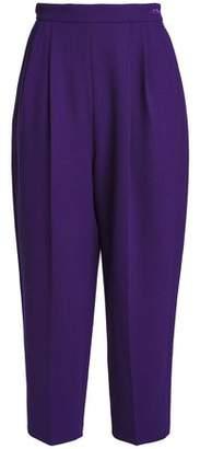 DELPOZO Cropped Wool-Crepe Wide-Leg Pants