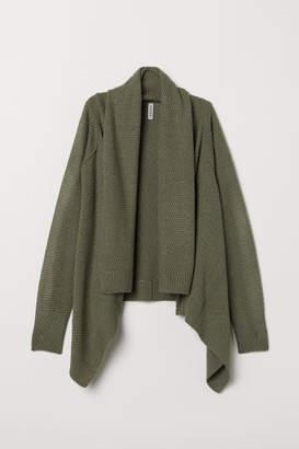 H&M Shawl-collar Cardigan - Green